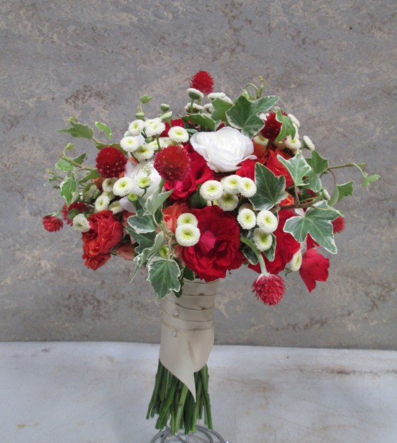red garden bouquet
