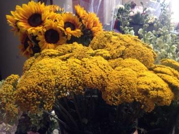 Yarrow and Sunflowers