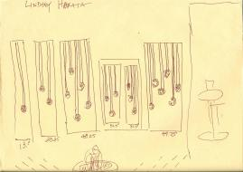 Campanile Wedding Streamers Sketch