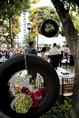 Wedding Tire Swing Tree