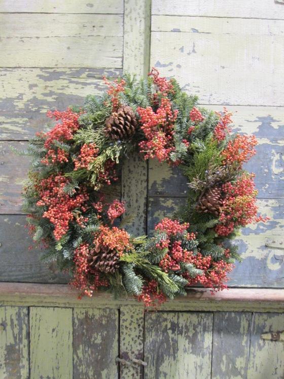 Pepper berry wreath